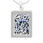 faded blue marijuana leaf Necklaces