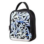 faded blue marijuana leaf Neoprene Lunch Bag