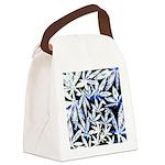 faded blue marijuana leaf Canvas Lunch Bag