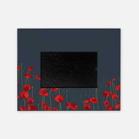 Cute Red poppy Picture Frame