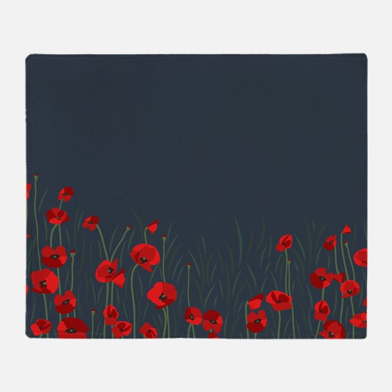 Cute Red poppy Throw Blanket