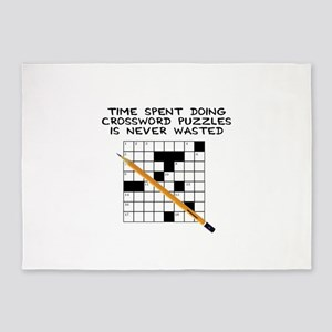 time spent doing crossword 5'x7'Area Rug