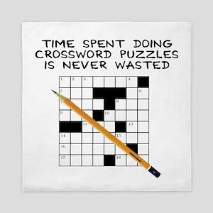 time spent doing crossword Queen Duvet