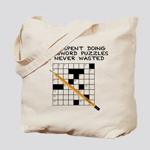 time spent doing crossword Tote Bag