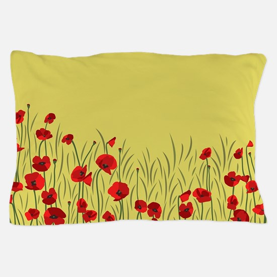 Spring poppies Pillow Case