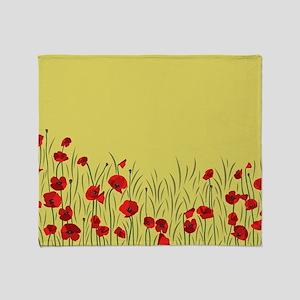 Spring poppies Throw Blanket