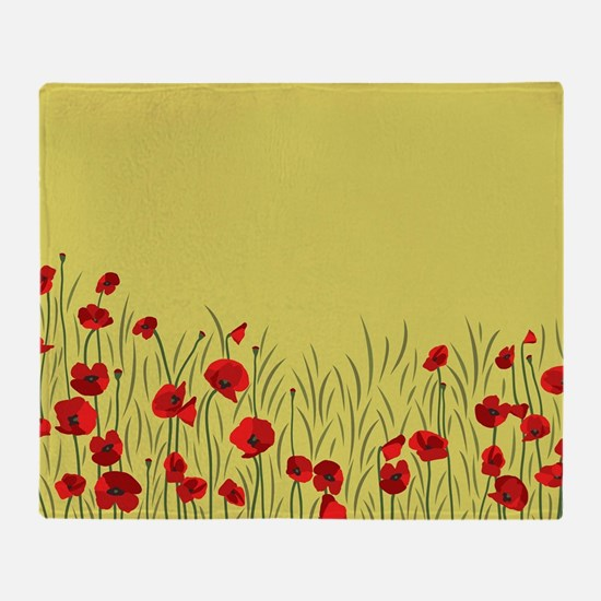 Spring poppies Throw Blanket