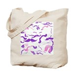 Pink Purple and White mustache collage Tote Bag