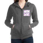 Pink Purple and White mustache collage Women's Zip
