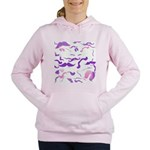 Pink Purple and White mustache collage Women's Hoo