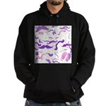 Pink Purple and White mustache collage Hoodie