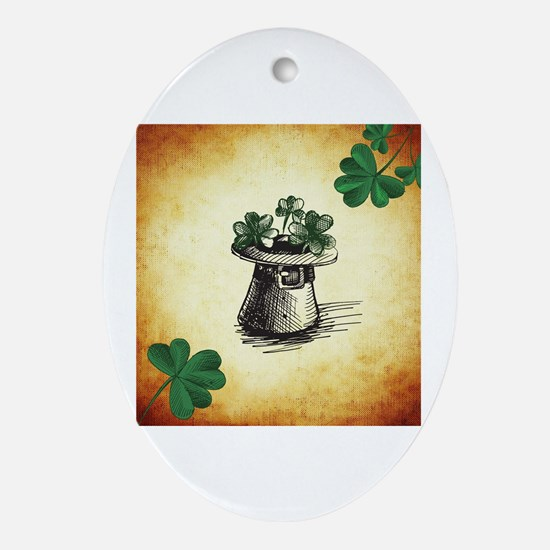 Cute St patrick%27s day Oval Ornament