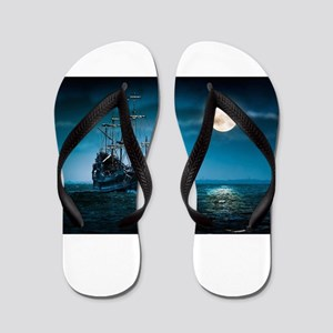 Moonlight Pirates Flip Flops