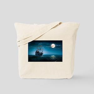 Moonlight Pirates Tote Bag