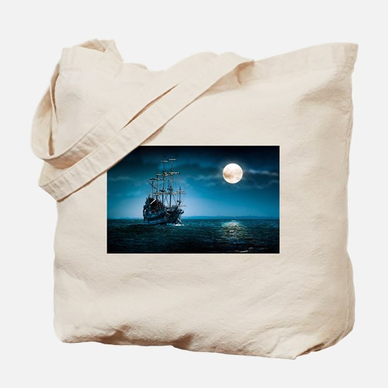 Moonlight Pirates Tote Bag