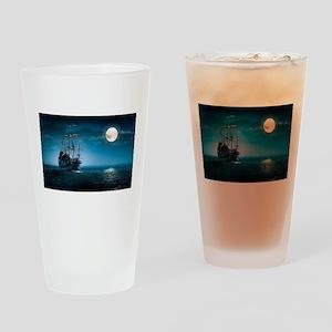 Moonlight Pirates Drinking Glass