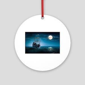 Moonlight Pirates Round Ornament