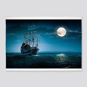 Moonlight Pirates 5'x7'Area Rug