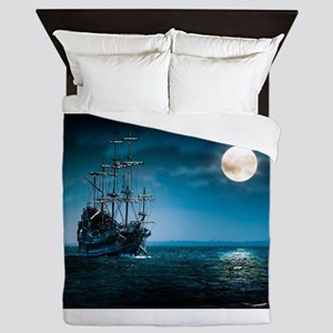 Moonlight Pirates Queen Duvet