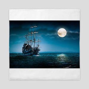 Moonlight Pirates Queen Duvet