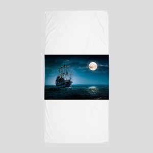 Moonlight Pirates Beach Towel
