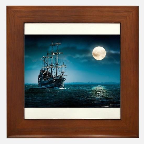 Moonlight Pirates Framed Tile