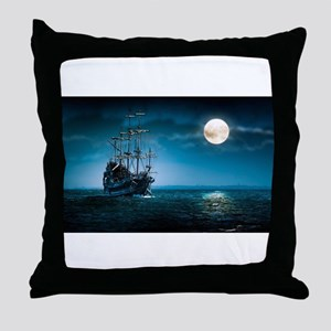 Moonlight Pirates Throw Pillow