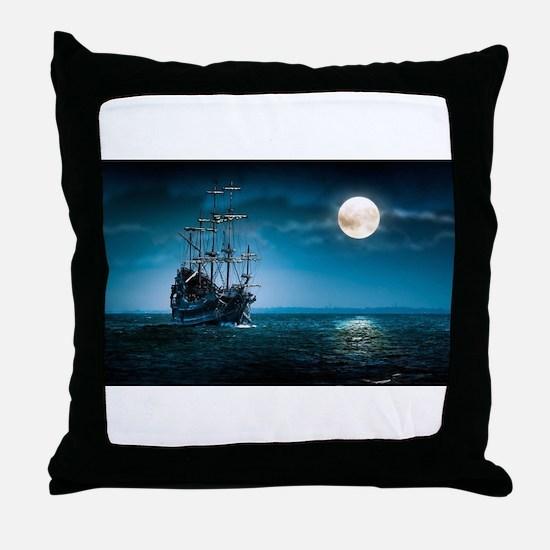 Moonlight Pirates Throw Pillow