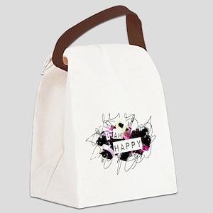 i am happy Feel Good.Be Happy.Te Canvas Lunch Bag