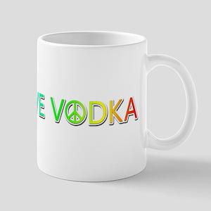 Peace Love Vodka Mugs