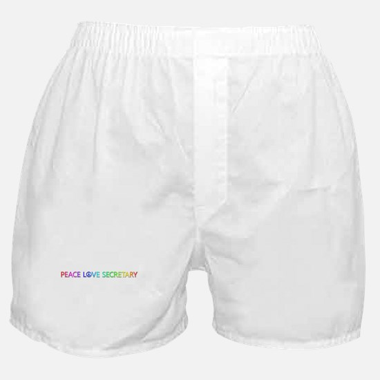 Peace Love Secretary Boxer Shorts
