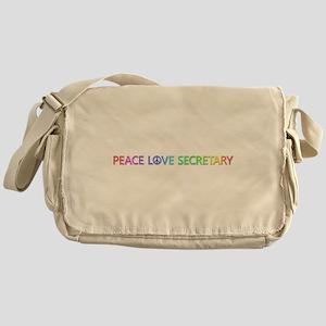 Peace Love Secretary Messenger Bag