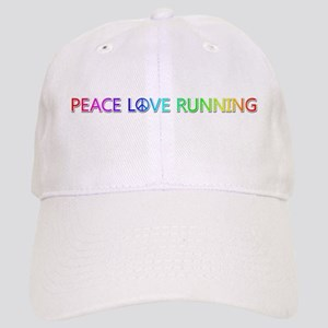 Peace Love Running Baseball Cap