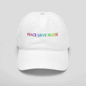 Peace Love Nurse Baseball Cap