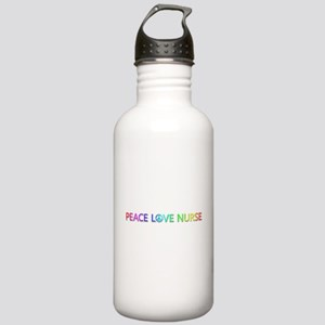 Peace Love Nurse Water Bottle