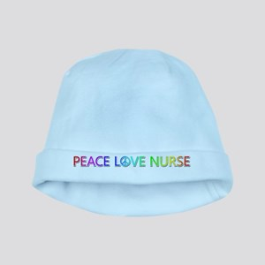 Peace Love Nurse baby hat