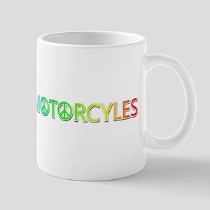 Peace Love Motorcyles Mugs