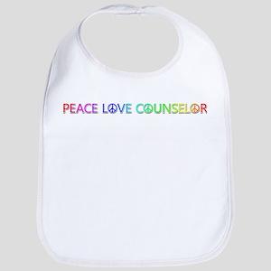 Peace Love Counselor Bib