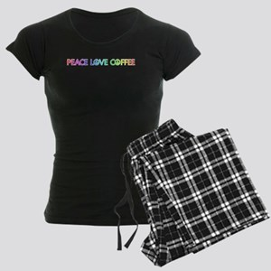 Peace Love Coffee Pajamas