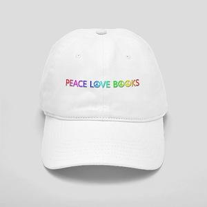 Peace Love Books Baseball Cap