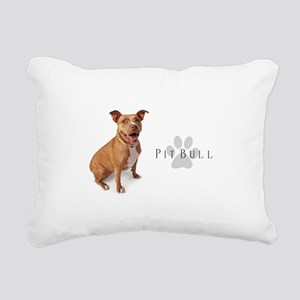 Pit Bull Rectangular Canvas Pillow