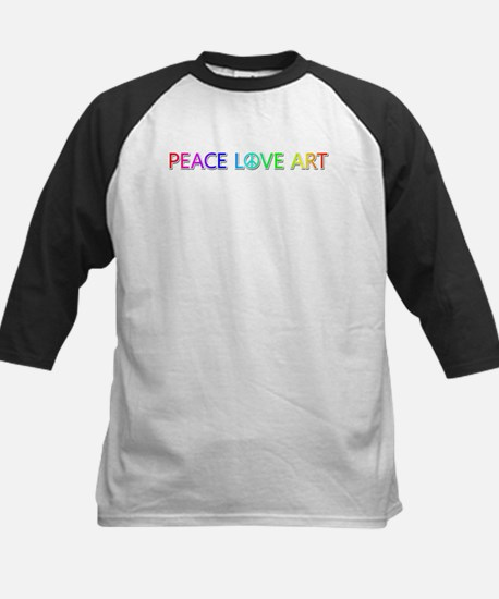 Peace Love Art Baseball Jersey