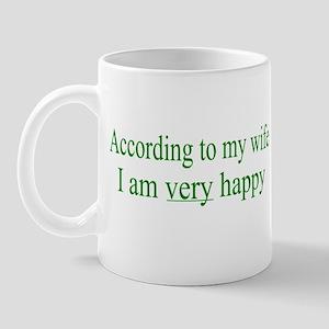 According To My Wife Mug