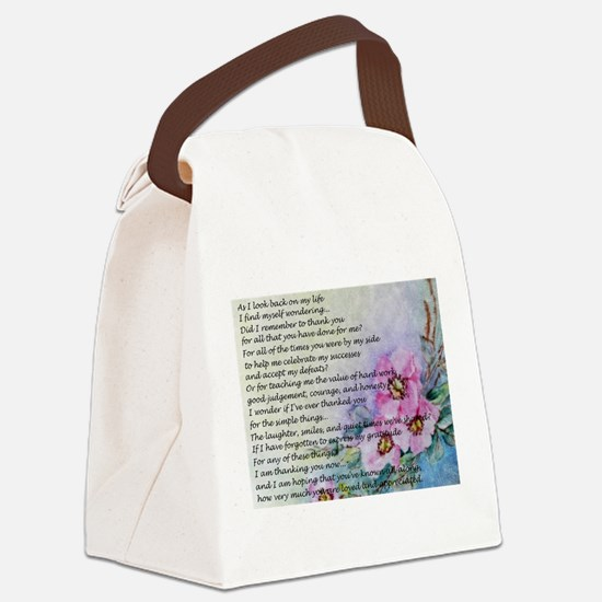 A Mother's Day Poem Canvas Lunch Bag