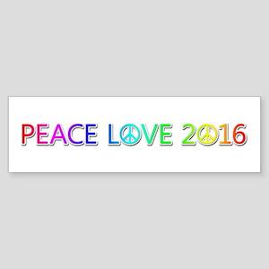 Peace Love 2016 Bumper Sticker