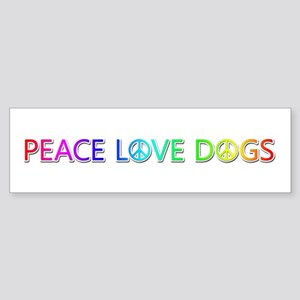 Peace Love Dogs Bumper Sticker