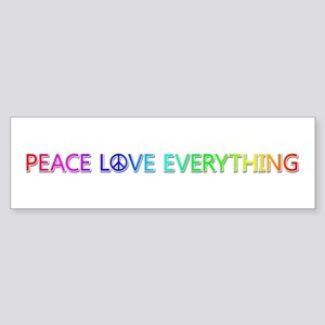 Peace Love Everything Bumper Sticker