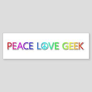 Peace Love Geek Bumper Sticker