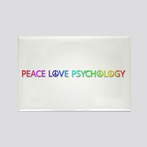 Peace Love Psychology Rectangle Magnet