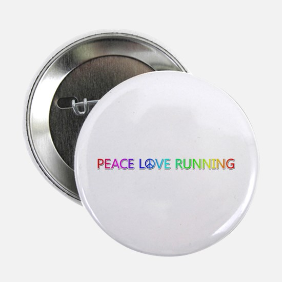 Peace Love Running Button 100 Pack